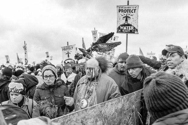 Acción de Gracias. Cannon Ball, Dakota del Norte, noviembre, 2016. Foto: Josué Rivas
