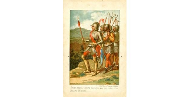 Tomado de Cristóbal Colón, descubrimiento de las Américas, de A. Lamartine, Madrid, 1885