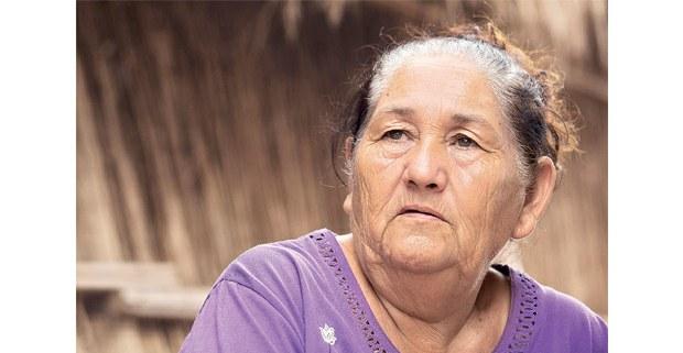 Hilda Hurtado Valenzuela, presidenta de la Sociedad Cooperativa del Pueblo Indígena Cucapá. Indiviso, Baja California. 13 de agosto de 2014. Foto: Prometeo Lucero