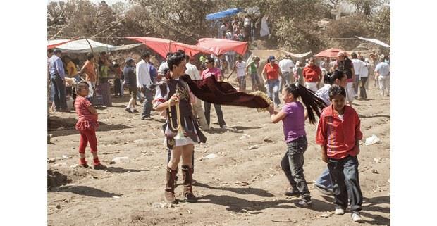 Celebración de la Semana Santa en Santa Cruz, Pueblo Nuevo, Edomex. Foto: Jerónimo Palomares