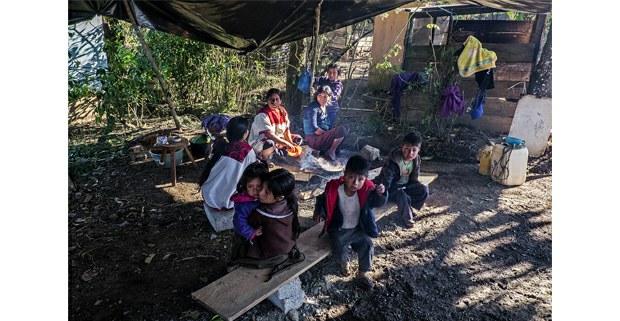 Campamento de desplazados, Aldama, Chiapas