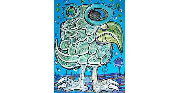 Obra del artista mazateco Filogonio Naxín