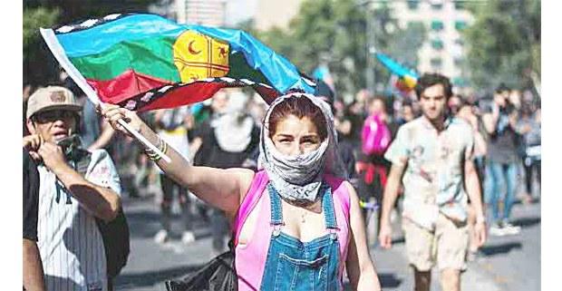 Protestas mapuche, octubre de 2019. Foto: Centro de Investigación Periodística (CIPER)