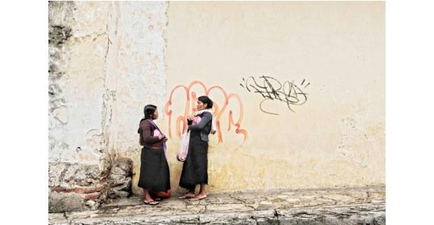 Mujeres tsotsiles, San Cristóbal de Las Casas, Chiapas. Foto: Mario Olarte
