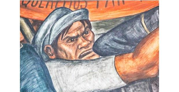 La industrialización del campo (detalle), 1935, mural de Grace Greenwood. Mercado Abelardo Rodríguez, CDMX. Foto: Mario Olarte