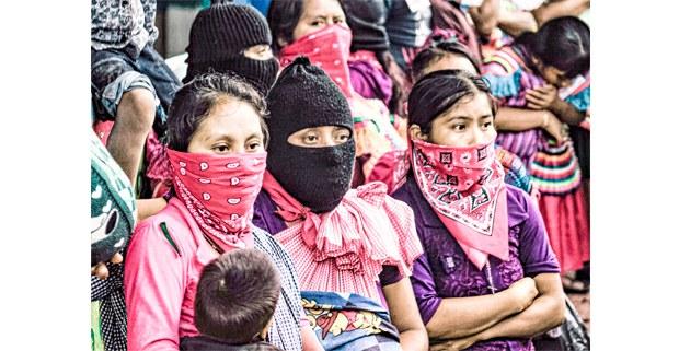 Bases de apoyo del EZLN en las montañas de Chiapas. Foto: Mario Olarte