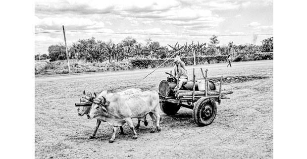 El carretero. Bayamo, Cuba. Foto: Mario Olarte