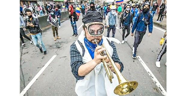 El 28 de abril inició en Colombia una intensa protesta nacional contra el gobierno de Iván Duque. Foto: Enlace Latinoamericano