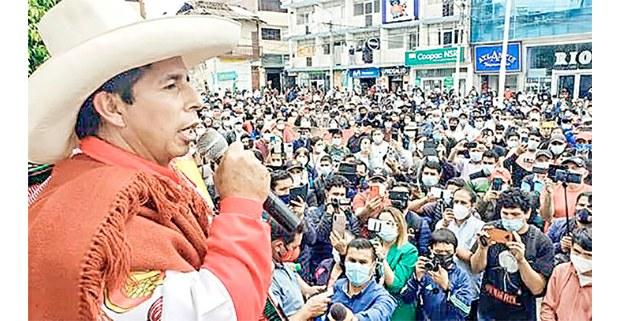 Pedro Castillo en campaña. Perú, 2021. Foto: Tamara Uriarte/ Perú 21